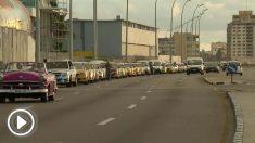 Colas kilométricas en Cuba para poder echar gasolina.