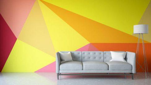 Cómo pintar una pared con formas geométricas paso a paso