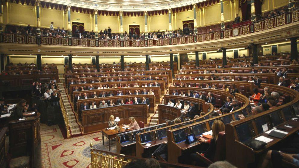 Plano general del hemiciclo del Congreso durante su constitución el pasado 21 de mayo. (Foto: Europa Press)