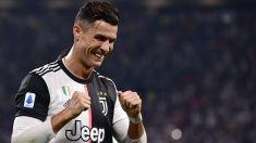 Cristiano Ronaldo celebra un gol con la Juventus. (AFP)