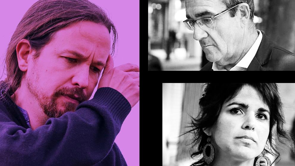 Pablo Iglesias, Juan Pedro Yllanes y Teresa Rodríguez.
