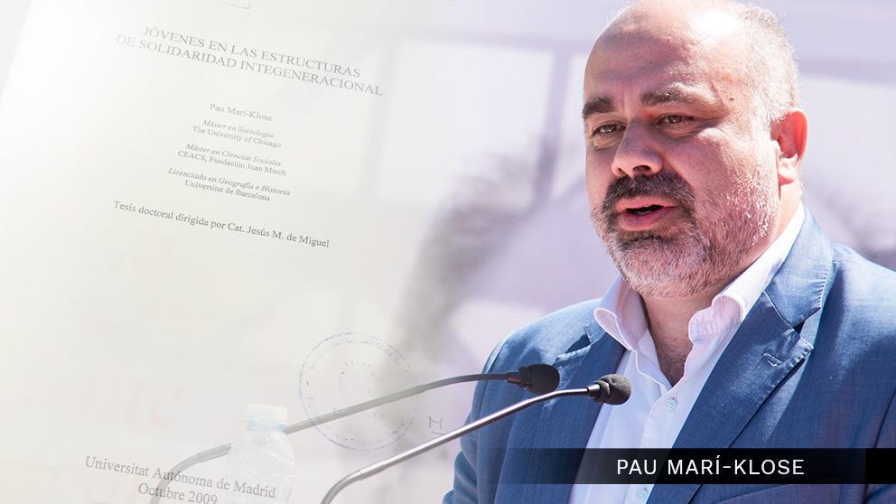 El socialista Pau Marí-Klose y su tesis doctoral plagiada. (Foto: PSOE / OKDIARIO)