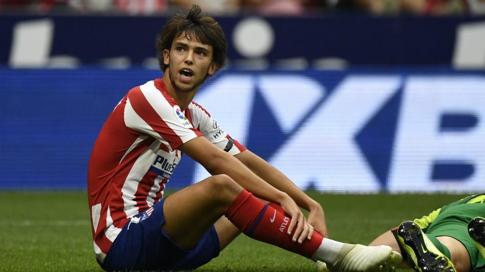 Joao Félix, en un partido con el Atlético de Madrid. (AFP)