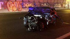 Imagen del accidente en la M50.