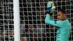 Keylor Navas durante un partido con el PSG. (AFP)