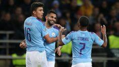 El Manchester City, celebrando un gol de Gundogan en Ucrania (Getty).