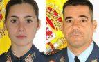 El comandante Daniel Melero, de 50 años y natural de Cádiz; y la alférez alumna Rosa María Almirón. fallecidos en el accidente de avión de la Academia General del Aire (AGA) que este miércoles se ha estrellado en aguas del Mar Menor.