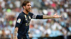Sergio Ramos, durante un partido. (AFP