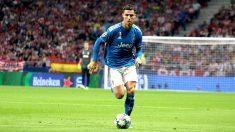 Cristiano Ronaldo, en el partido en el Wanda Metropolitano. (Foto: Enrique Falcón)