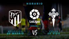 Atlético de Madrid – Celta: horario y dónde ver en TV en directo el partido de hoy de la Liga Santander.