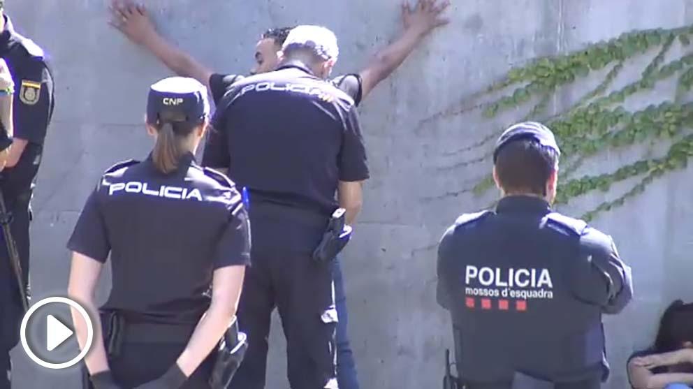 Redada contra las bandas de carteristas en el metro de Barcelona.