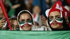 Aficionadas de Irán en el Mundial de Rusia 2018. (AFP)