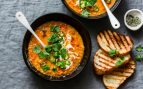 Receta de sopa picante de lentejas rojas