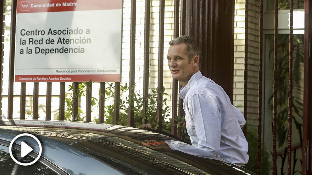 Iñanki Urdangarin, llega procedente de la prisión de Brieva (Ávila), al Hogar Orione de Pozuelo de Alarcón para hacer voluntariado. (Foto: Europa Press)