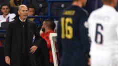 Zidane, durante el PSG – Real Madrid (AFP).