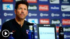 Simeone analizó en rueda de prensa el duelo ante el Celta. (atleticodemadrid.com)