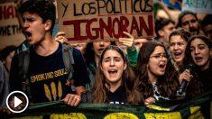 Jóvenes del movimiento 'Fridays For Future'. Foto: Europa Press