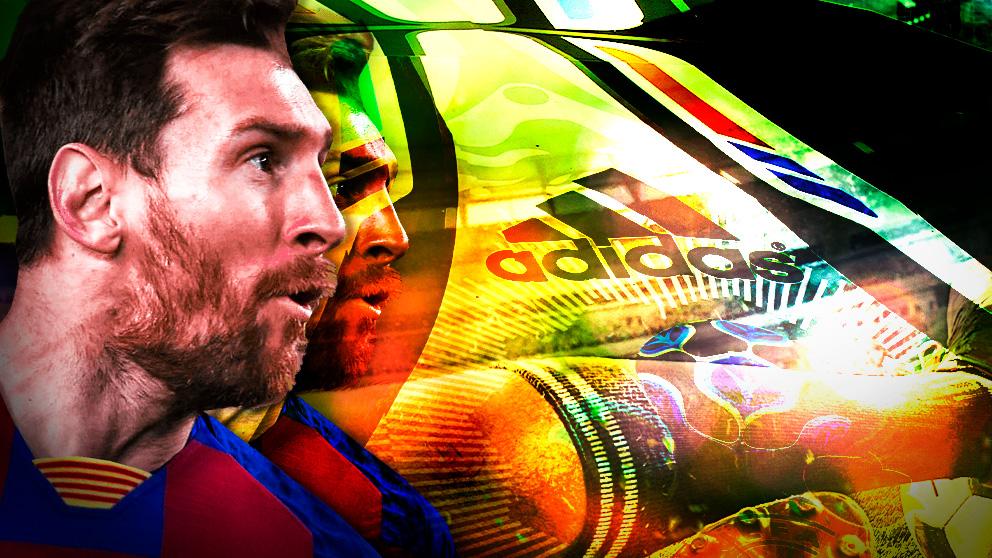 Adidas sueña con la marcha de Messi del Barcelona.
