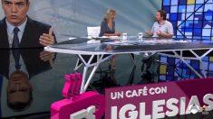 Iglesias en la entrevista en Espejo Público.