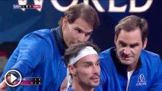 Nadal y Federer dan consejos a Fognini.