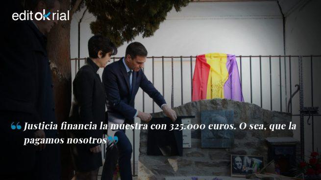 Sánchez lleva a campaña los guiños al exilio republicano