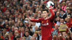 Robertson, en un partido del Liverpool. (Getty)