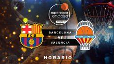 Supercopa Endesa de Baloncesto: Barcelona – Valencia Basket | Horario del partido de baloncesto de la Supercopa Endesa.