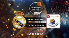 Supercopa Endesa de Baloncesto: Real Madrid – Fuenlabrada | Horario del partido de baloncesto de la Supercopa Endesa.