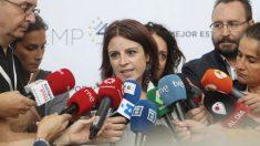 Adriana Lastra, este sábado en el Pleno de la Federación Española de Municipios. (Foto. PSOE)