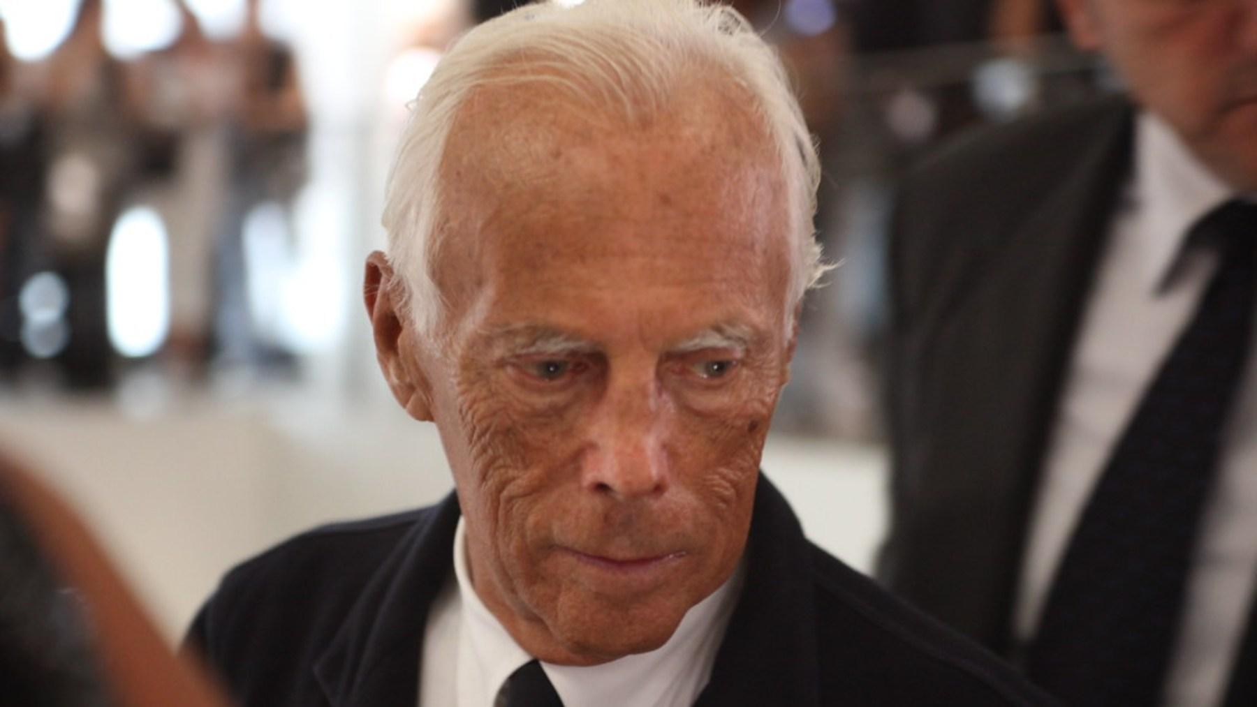 Armani es uno de los diseñadores más famosos del mundo
