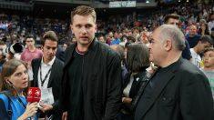 Luka Doncic, en el Wizink Center. (ACB)