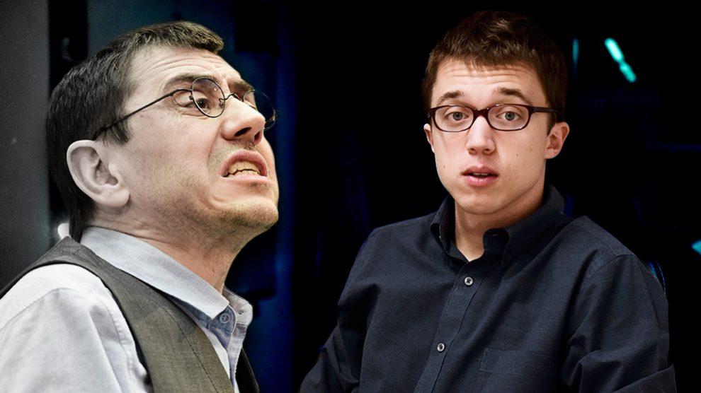Juan Carlos Monedero e Íñigo Errejón.