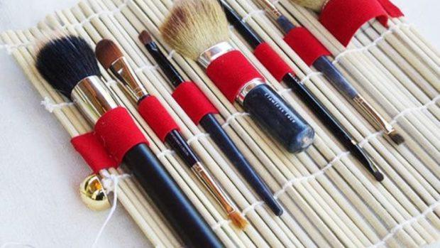 Cómo hacer un organizador de maquillaje con esterillas de sushi