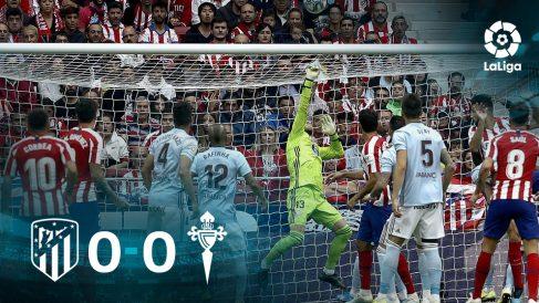 El Atlético no pudo con el Celta.