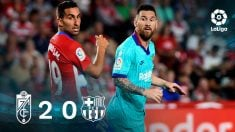 Leo Messi no pudo salvar al Barça en Granada. (EFE)