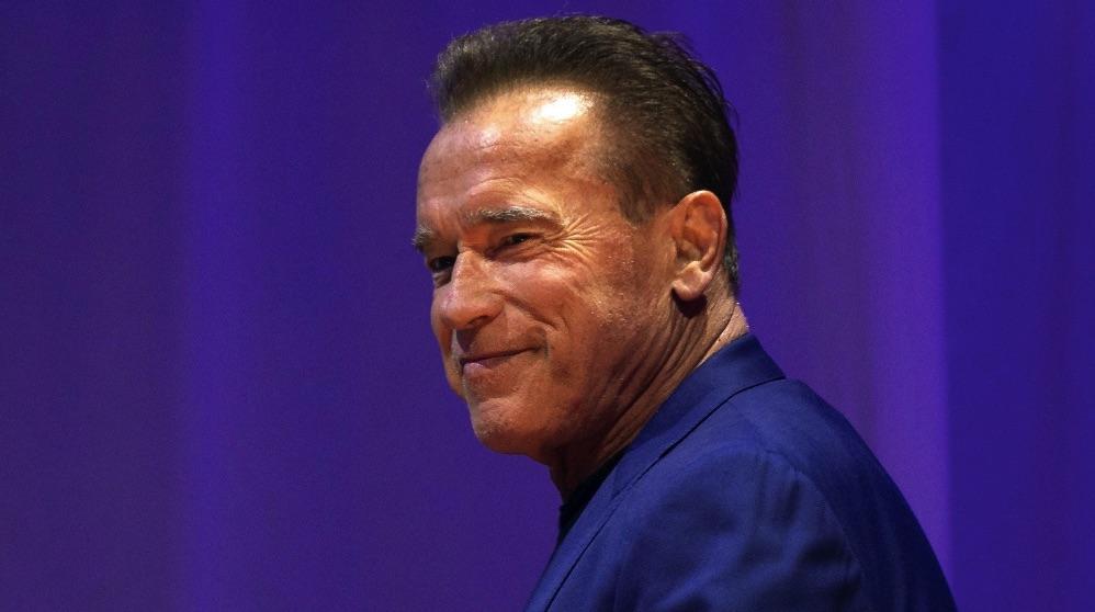 El actor estadounidense Arnold Schwarzenegger durante la presentación del evento Arnold Classic este viernes en Barcelona. (Foto. EFE)