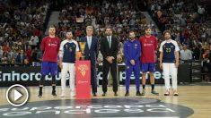 Los campeones del mundo homenajeados en Madrid. (ACB)