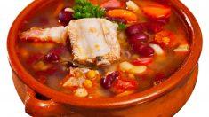 Receta de Sopa de frijol con carne de cerdo