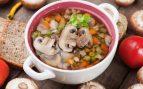 Receta de Sopa de verduras braseadas y champiñones