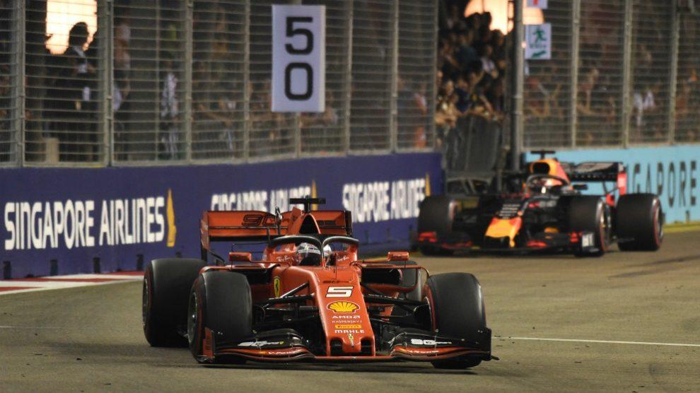 Vettel se llevó la victoria en el Gran Premio de Singapur de Fórmula 1. (AFP)