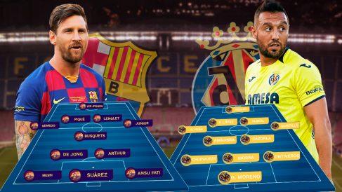 Barcelona y Villarreal se enfrentan en el Camp Nou.