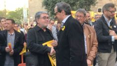 Carles Sastre (izquierda), junto al presidente del Govern, Quim Torra.