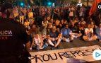 Gritos contra España en el intento de asalto al cuartel de la Guardia Civil por parte de los CDR