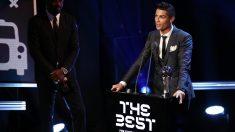 Cristiano Ronaldo, en la gala The Best 2017. (Getty)