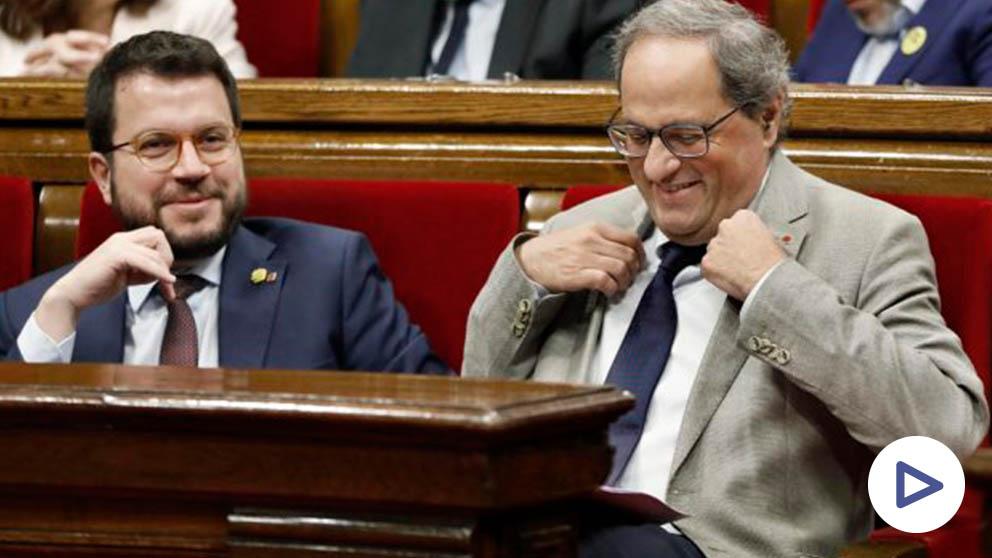 Quim Torra en el Parlament (Foto: EFE)