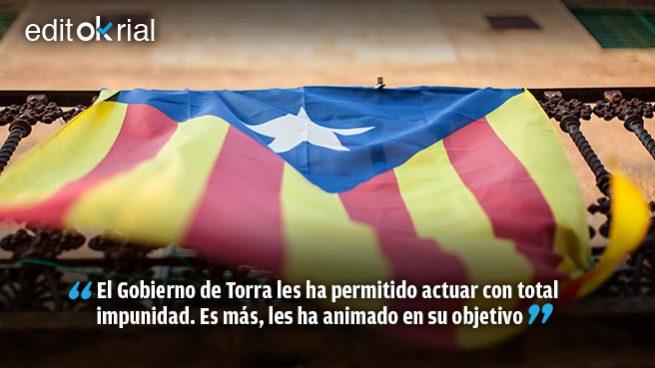 No son «gent de pau», son terroristas alentados por la Generalitat de Cataluña