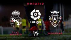 Liga Santander: Real Madrid – Osasuna | Horario del partido de fútbol de Liga Santander.
