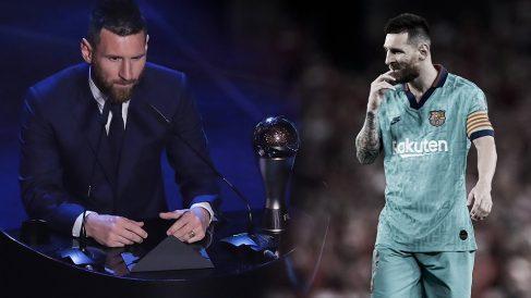 Messi, con el premio The Best. (AFP)