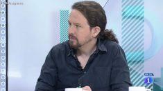 Pablo Iglesias en la entrevista de TVE