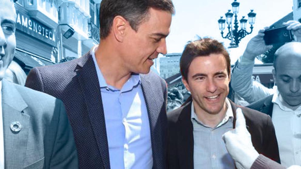 El socialista Pedro Casares junto a Pedro Sánchez